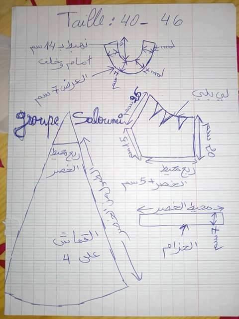كيفية خياطة فستان سواريه بالفيديو