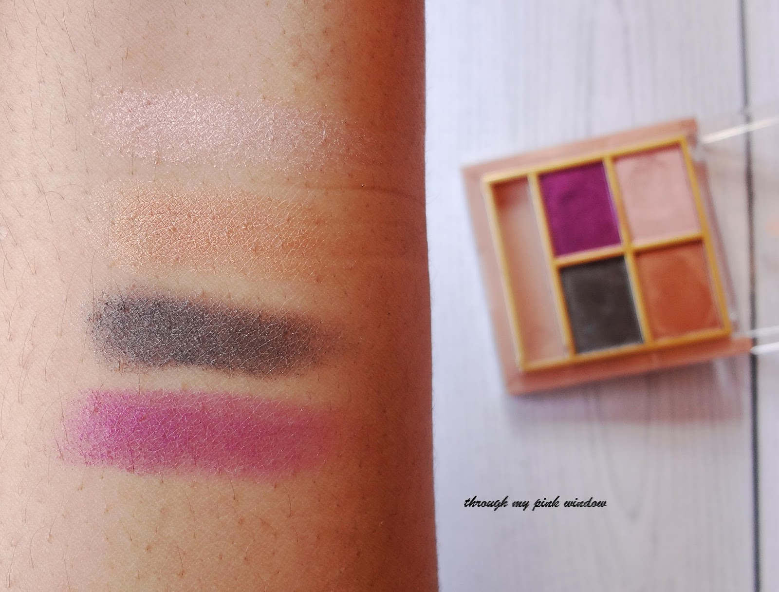 lakme 9 to 5 eye color quartet in silk route review swatch and
