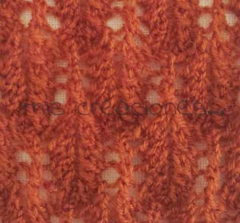 muestras en tricot. hojas 1