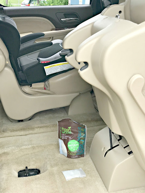 How to freshen up your car naturally, safe ways to freshen up your air, care about your air campaign, fresh wave review, Fresh Wave giveaway, Fresh Wave Odor Removing products, How to freshen up your car, How to clean your vehicle easy