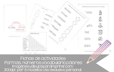 ejercicios en castellano para niños para imprimir