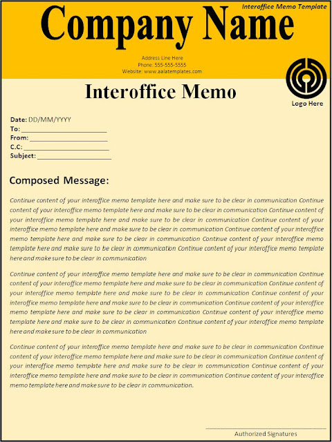 Internal Memo Template