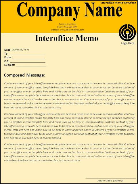 Internal Memo Template