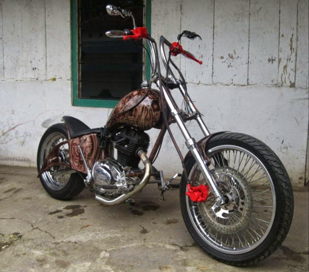 Kumpulan Modifikasi Motor Cb Harley Modifikasimania