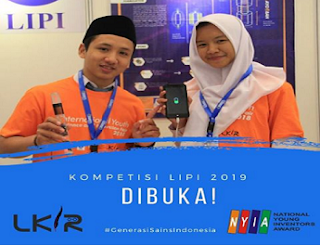 akan menyelenggarakan Lomba Karya Ilmiah Remaja  LKIR (LOMBA KARYA ILMIAH REMAJA) LIPI TAHUN 2019
