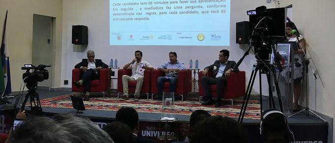 Candidatos a vice-governador do RJ ganharam voz no primeiro debate ao vivo da TV Universo (afiliada da TV Cultura).