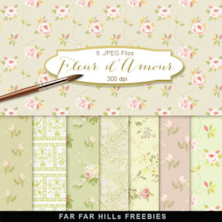 New Freebies Kit of Scrap Backgrounds - Fleur d