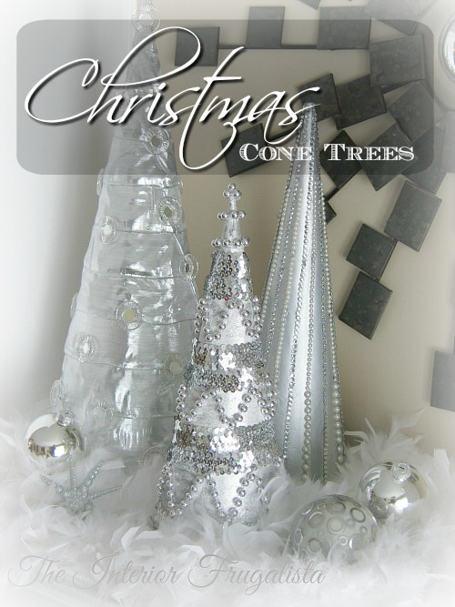 DIY Beaded Christmas Cone Trees