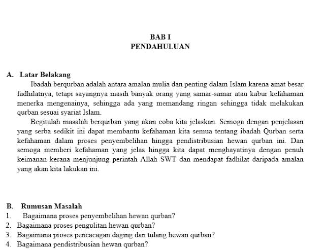 Makalah Tentang Qurban Contoh Makalah