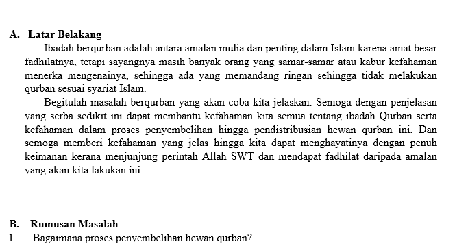 Makalah Tentang Qurban Pdf Contoh Makalah