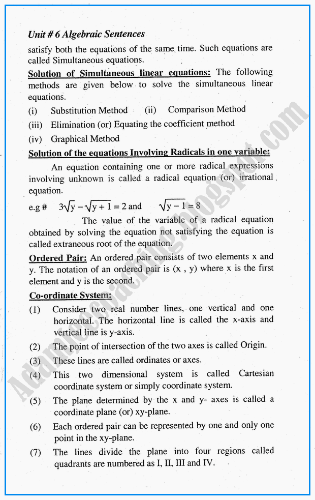 algebraic-sentences-definitions-and-formulae-mathematics-10th