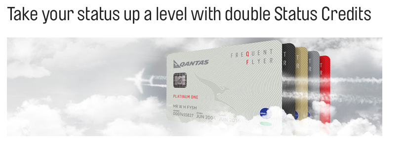 Qantas Frequent Flyer: Double Status Credit for flights over
