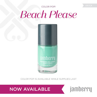 Limited Edition Jamberry ColorPop lacquer - Beach Please