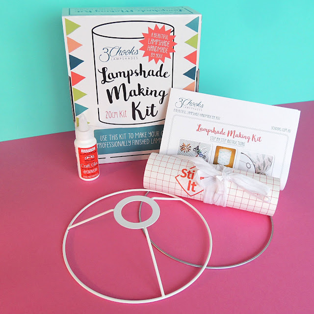 Contents of a 3Chooks Lampshade Making Kit