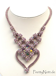 "Beaded necklace ""Lady Malvasia"" - Design by PrettyNett.de"
