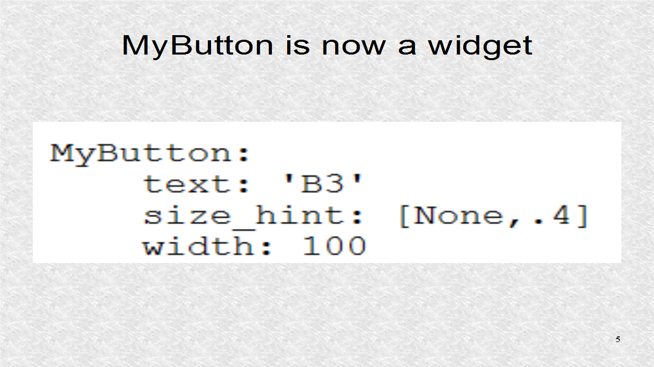 Mobile Programming in Python: 7  Background Color