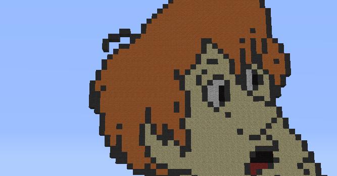 Minecraft Pixel Art Helper Shaggy
