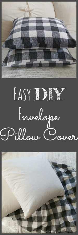 Easy DIY Envelope Pillow Covers