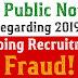 FCI Public Notice Regarding 2019 Ongoing Recruitment Fraud