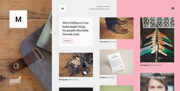 Millburn - Minimalist Portfolio Theme