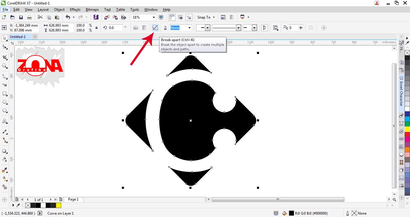 Cara Membuat Logo Carrefour Dengan Corel Draw X7 ~ Belajar