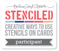 Stenciled Online Card Class