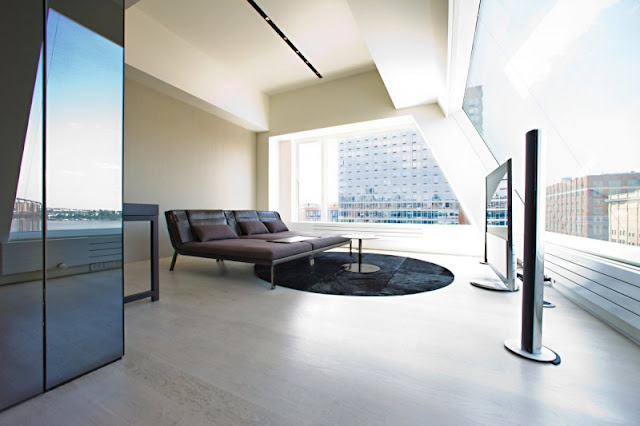Photo of bedroom in one of the modern New York penthouses