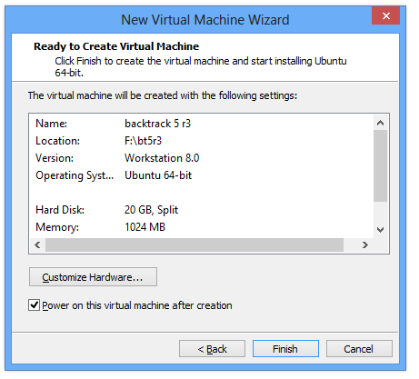 Installing backtrack 5 R3 in virtual machine step by step