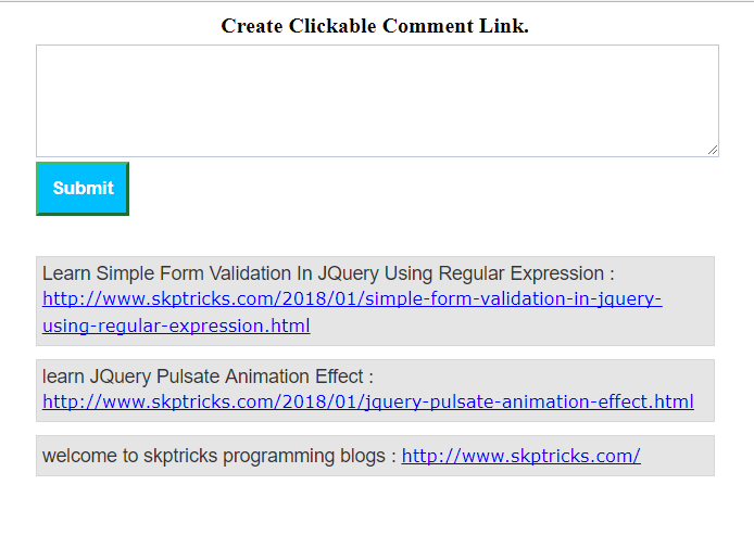 Create Clickable Comment Link in PHP | SKPTRICKS