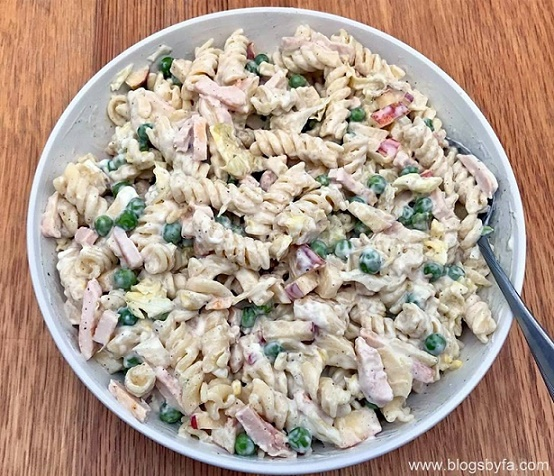 halal chicken pasta salad