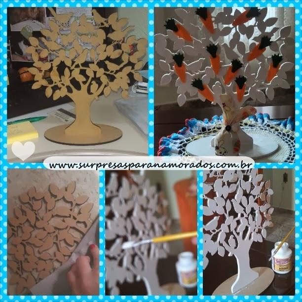 árvore de cenouras para a páscoa
