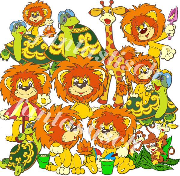 Играем до школы: Отрисовки - картинки Львенок и черепаха