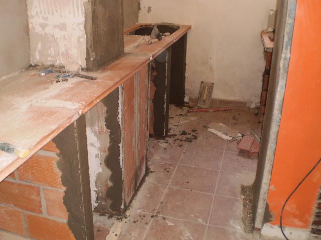 Plegables escalera creativo - Como hacer una encimera de cocina de obra ...