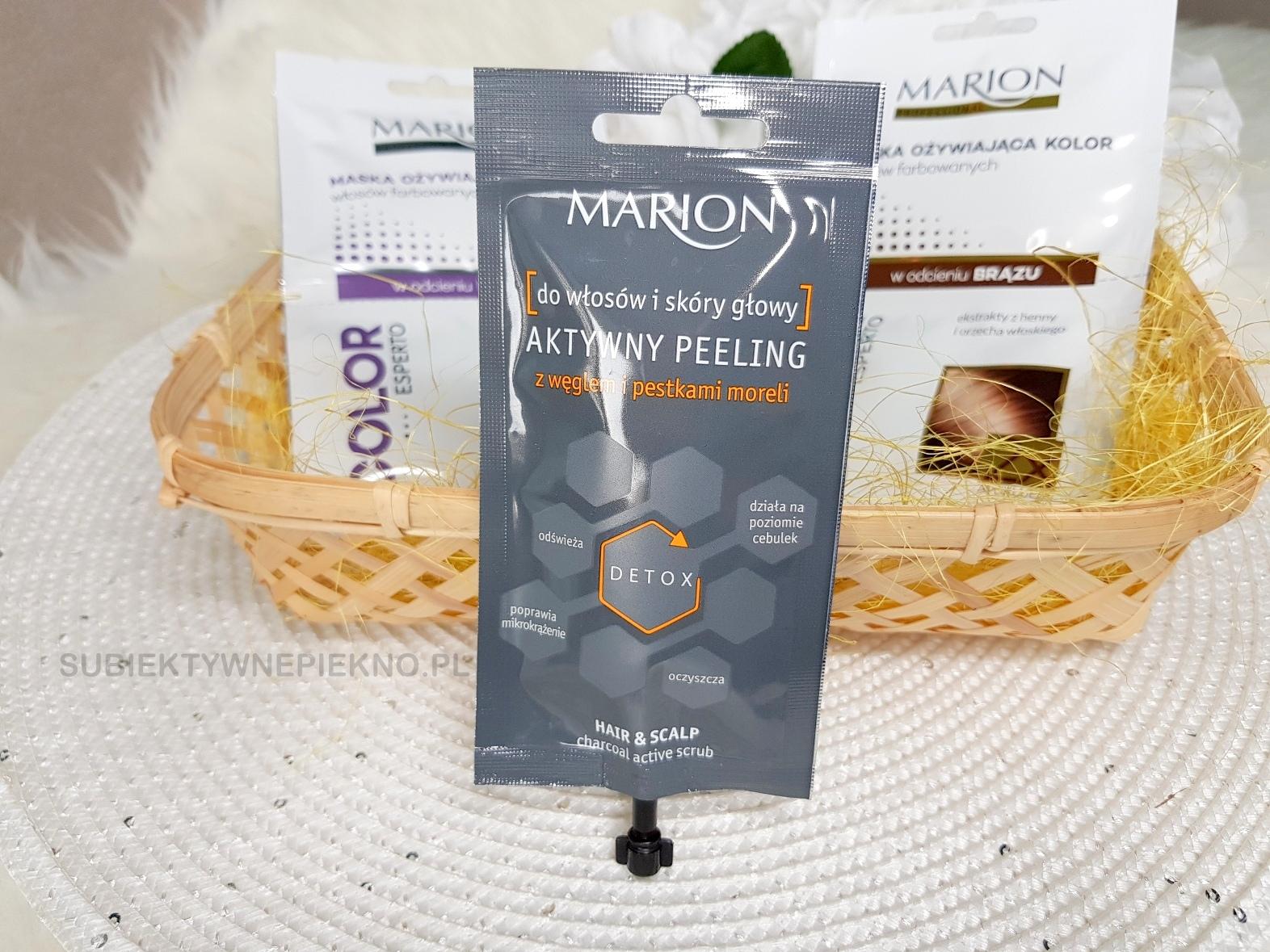 Marion peeling do skóry głowy z węglem aktywnym i pestkami malin blog