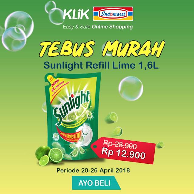 Tebus Murah Sunlight Refill Lime 1,6L