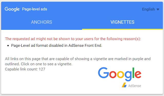 Cara Mengatasi Iklan Auto Ads (Page Level) Yang Tidak Muncul