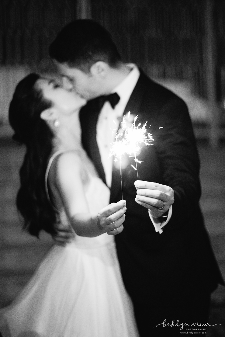 Sparkler Wedding Exit Photos