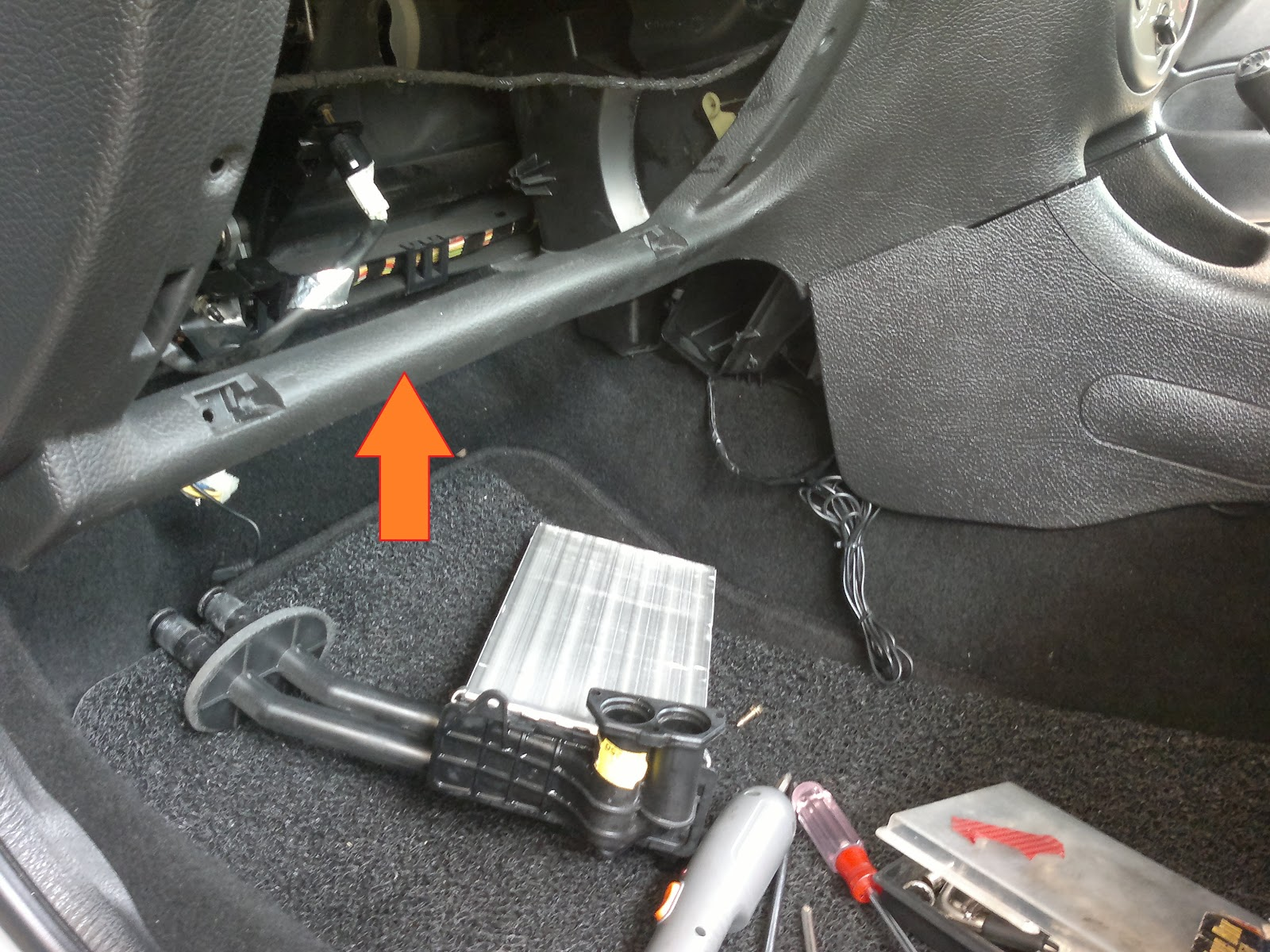 cooling core parts for peugeot 307