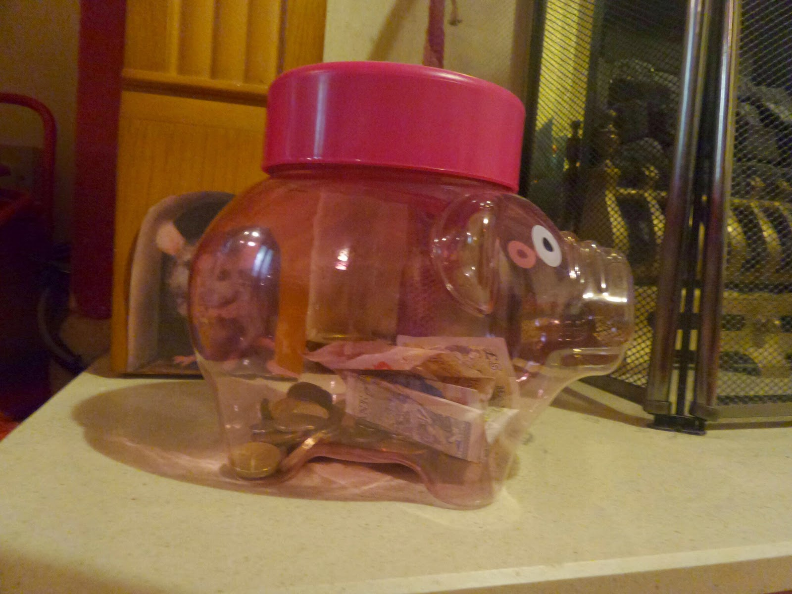 Our Piggy Bank with our increasing Savings