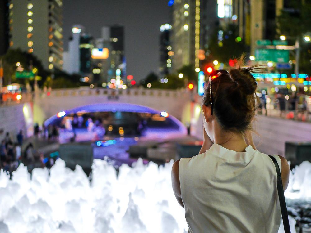 Cheonggyecheon stream night view seoul night view