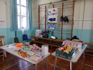 halloween disco tuck shop candy in school gym assembly hall