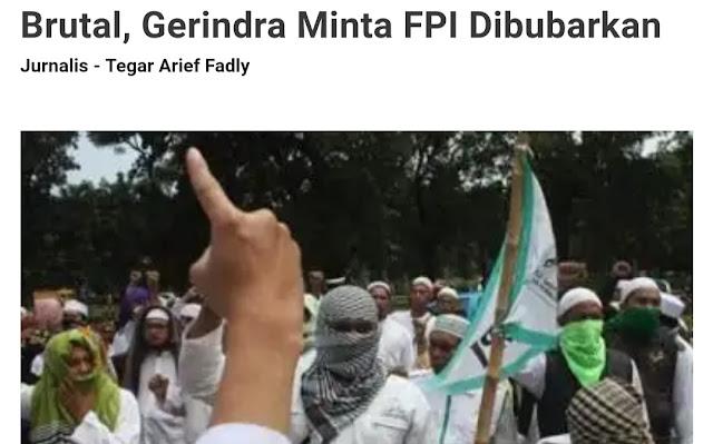 Beda dengan Sekarang, Dulu Gerindra Desak Pemerintah Bubarkan FPI