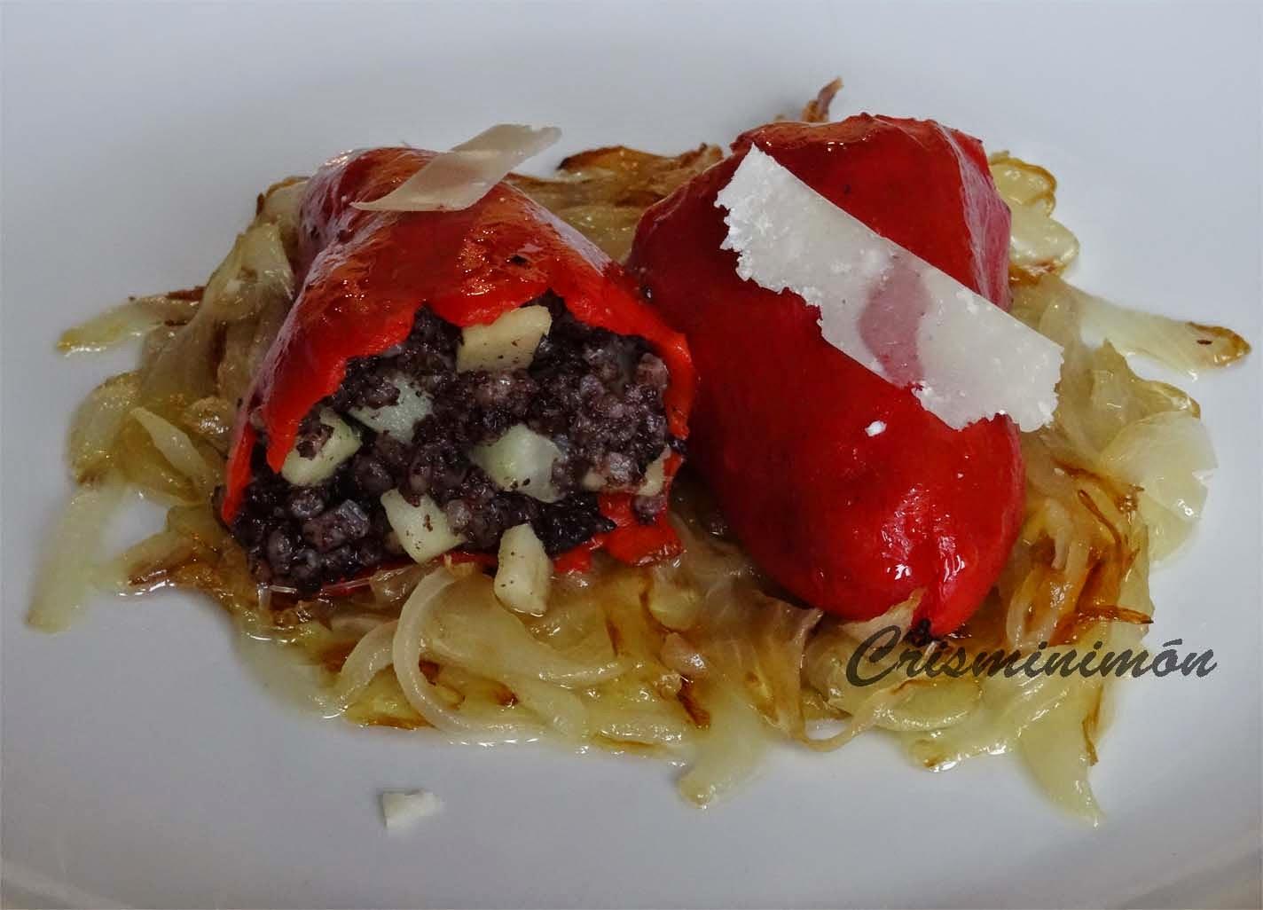 Delicies Culinaries Cris Pimientos Del Piquillo Rellenos De Morcilla Y Manzana