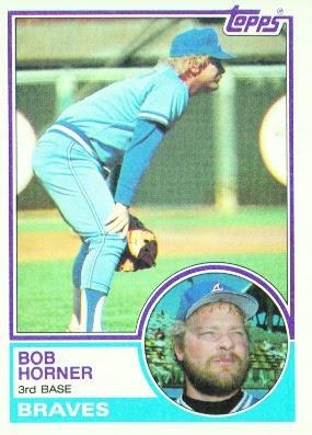 1983 Topps Blog 50 Bob Horner