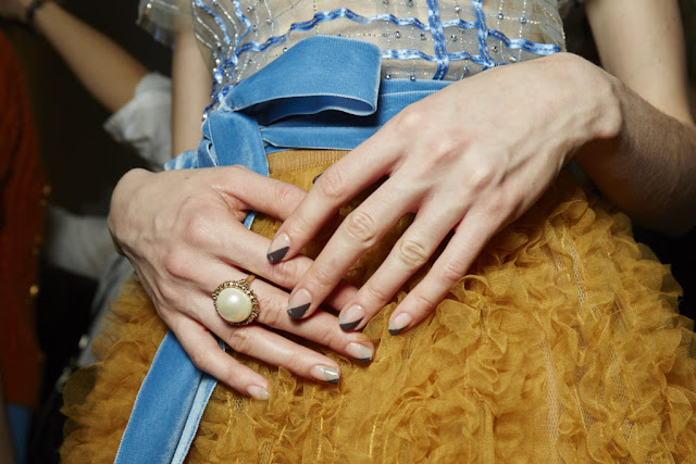 Essie Nails in Jenny Packham NYFW show