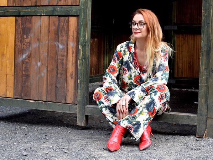 Pyjama mit Bluemnuster