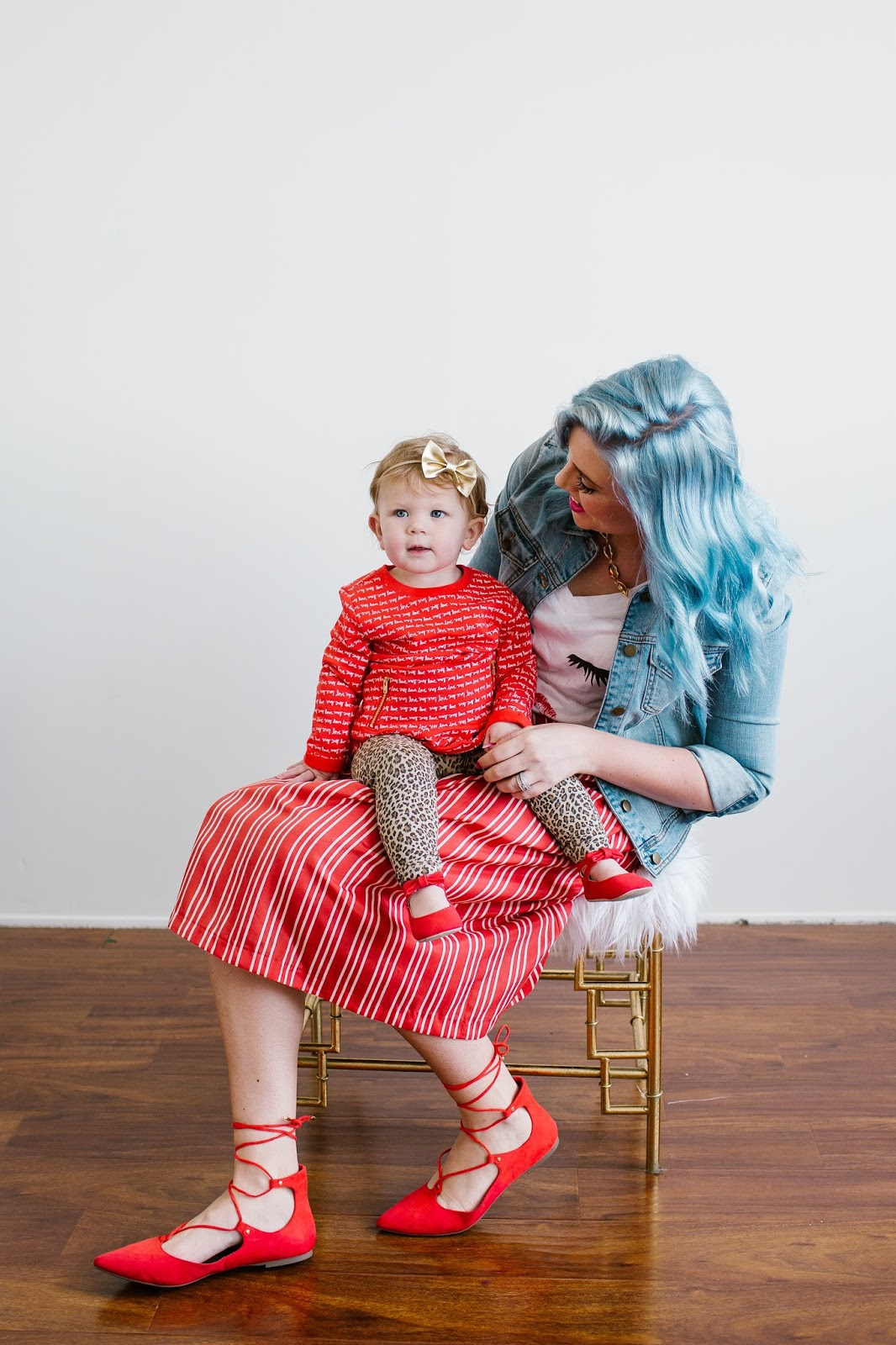 Mommy and Me, Blue Hair, Valentines