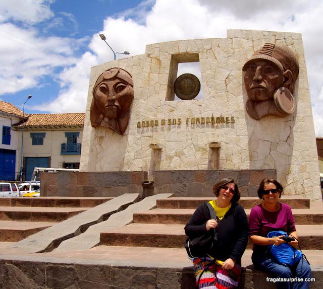 Manco Capac e Mama Ocllo, em Cusco, Peru