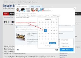 membuat jadwal posting Anda daripada menggunakan schedule Facebook