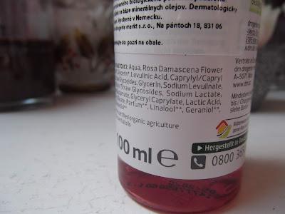 ružová voda od Alverde zloženie